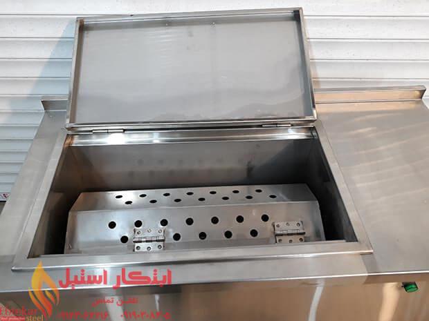 دستگاه سیخ شوی | دستگاه شستشوی سیخ کباب | سیخ شوی استیل کبابی